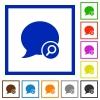 Find blog comment flat framed icons - Find blog comment flat color icons in square frames
