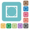 Rounded corners flat icons - Rounded corners white flat icons on color rounded square backgrounds