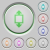 Height tool push buttons - Height tool color icons on sunk push buttons
