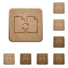 Swap documents wooden buttons - Swap documents icons in carved wooden button styles