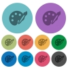 Paint color flat icons - Paint flat icons on color round background.
