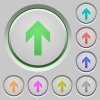 Up arrow push buttons - Up arrow color icons on sunk push buttons