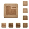 Tab folder wooden buttons - Tab folder icons in carved wooden button styles