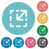 Resize element flat icons - Resize element white flat icons on color rounded square backgrounds