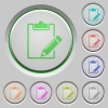 Blank notepad push buttons - Blank notepad color icons on sunk push buttons
