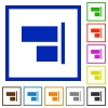 Align to right flat framed icons - Align to right flat color icons in square frames