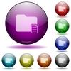 Folder properties glass sphere buttons - Folder properties color glass sphere buttons with shadows.