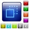 Send to back color square buttons - Send to back color glass rounded square button set
