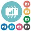 Hardware acceleration white flat icons on color rounded square backgrounds - Hardware acceleration flat icons