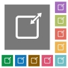Adjust item size proportionally square flat icons - Adjust item size proportionally flat icons on simple color square background.