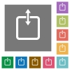 Adjust item height square flat icons - Adjust item height flat icons on simple color square background.