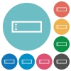 Editbox flat icons - Editbox white flat icons on color rounded square backgrounds
