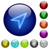 Direction arrow color glass buttons - Direction arrow icons on round color glass buttons