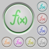 Function push buttons - Function color icons on sunk push buttons