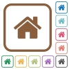 Home simple icons - Home simple icons in color rounded square frames on white background
