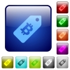 Bitcoin price label color square buttons - Bitcoin price label color glass rounded square button set