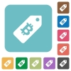 Bitcoin price label square flat icons - Bitcoin price label flat icons on simple color square background.