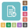 Save document square flat icons - Save document flat icons on simple color square background.
