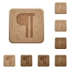 Text paragraph wooden buttons - Text paragraph icons in carved wooden button styles