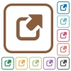 Export simple icons - Export simple icons in color rounded square frames on white background