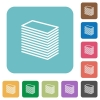 Paper stack square flat icons - Paper stack flat icons on simple color square background.
