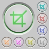 Crop tool push buttons - Crop tool color icons on sunk push buttons