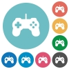 Game controller flat icons - Game controller white flat icons on color rounded square backgrounds