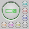 Search box push buttons - Search box color icons on sunk push buttons