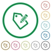 Tagging flat icons with outlines - Tagging flat color icons in round outlines