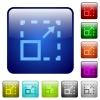 Maximize element color square buttons - Maximize element color glass rounded square button set