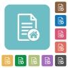 Default document square flat icons - Default document flat icons on simple color square background.
