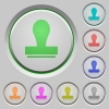 Stamp push buttons - Stamp color icons on sunk push buttons