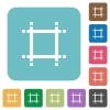 Adjust canvas size flat icons on simple color square background. - Adjust canvas size square flat icons