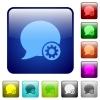 Blog comment settings color square buttons - Blog comment settings color glass rounded square button set