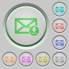 Receive mail push buttons - Receive mail color icons on sunk push buttons