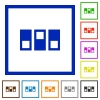 Switchboard flat color icons in square frames - Switchboard flat framed icons