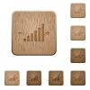 Control element wooden buttons - Control element icons in carved wooden button styles