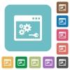 API key square flat icons - API key flat icons on simple color square background.