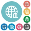 Internet banking flat icons - Internet banking white flat icons on color rounded square backgrounds
