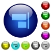 Align to right color glass buttons - Align to right icons on round color glass buttons