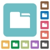 Tab folder square flat icons - Tab folder flat icons on simple color square background.