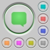 Message bubble push buttons - Message bubble color icons on sunk push buttons