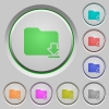 Download folder push buttons - Download folder color icons on sunk push buttons