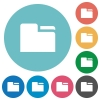 Tab folder flat icons - Tab folder white flat icons on color rounded square backgrounds