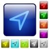 Direction arrow color square buttons - Direction arrow color glass rounded square button set