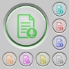 Voice document push buttons - Voice document color icons on sunk push buttons