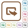 Export simple icons in color rounded square frames on white background - Export simple icons