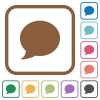 Blog comment simple icons - Blog comment simple icons in color rounded square frames on white background
