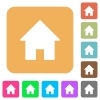 Home rounded square flat icons - Home icons on rounded square vivid color backgrounds.