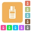 POS terminal rounded square flat icons - POS terminal icons on rounded square vivid color backgrounds.